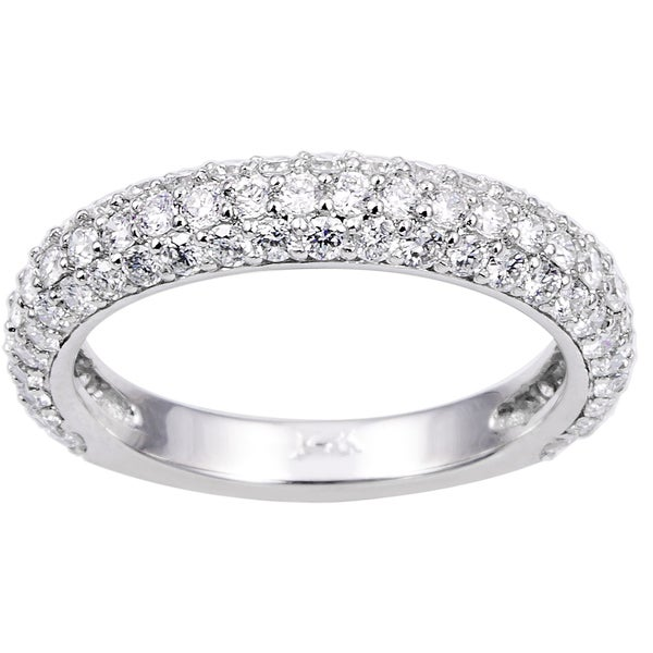 14k/ 18k Gold or Platinum 1ct TDW Pave Diamond Band (G-H, SI1-SI2)