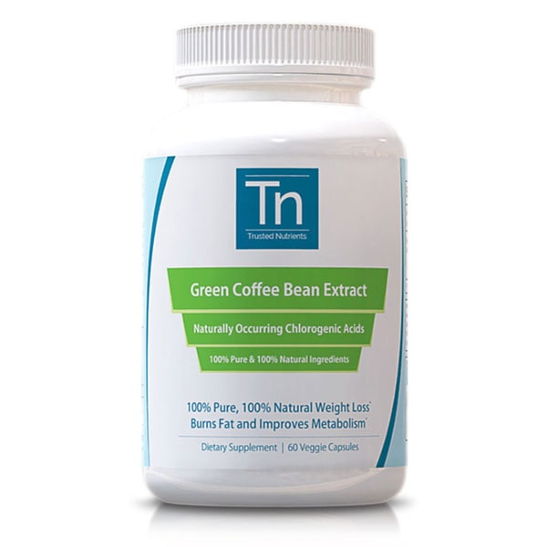 Trusted Nutrients Pure Green Coffee Bean Extract (60 Capsules)