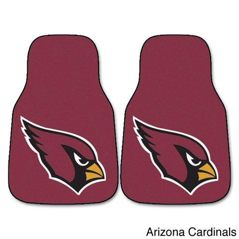 NFL Arizona Cardinals, Atlanta Falcons, Jacksonville Jaguars, Tampa Bay Buccaneers Logo 2-piece Nylon Carpeted Car Mats