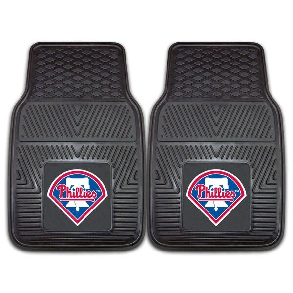Fanmats MLB Philadelphia Phillies Heavy Duty 2-piece Vinyl Car Mats