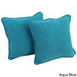 Blazing Needles 18-inch Microsuede Throw Pillow (Set of 2) (5 options available)