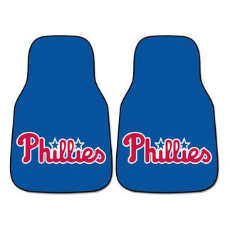 Fanmats MLB Philadelphia Phillies Blue Nylon 2-piece Carpeted Car Mats