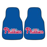 Fanmats MLB Philadelphia Phillies Blue Nylon 2-piece Carpeted Car Mats