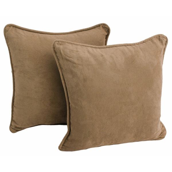 Blazing Needles 18-inch Microsuede Throw Pillow (Set of 2)