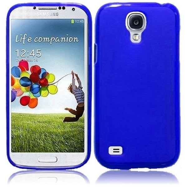 INSTEN Blue Frosted TPU Phone Case Cover for Samsung S4 Mini
