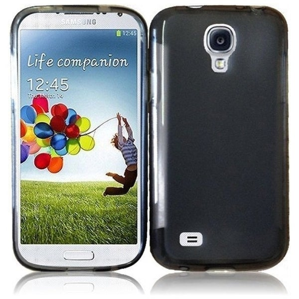 INSTEN Smoke Frosted TPU Phone Case Cover for Samsung S4 Mini