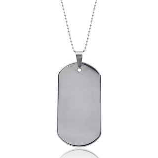 Vance Co. Men's Tungsten Dog Tag Pendant