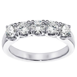 14k/ 18k Gold 1ct TDW Brilliant-cut 5-stone Diamond Band