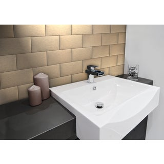 EKB Instant Mosaic Champagne Adhesive Tiles (3- x 6-inches)