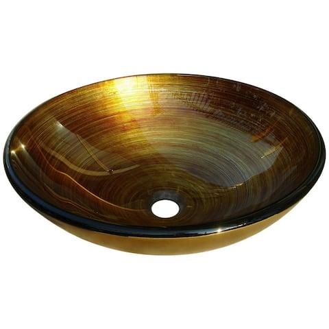Gold/ Orange Glass Sink Bowl