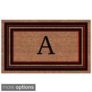 Handmade Esquire Extra Thick Monogrammed Doormat (2' x 3') (More options available)