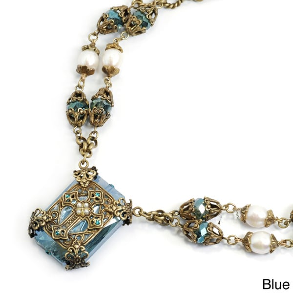 Sweet Romance Chartes Filigree Cross Necklace