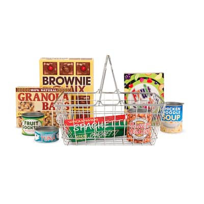 Melissa & Doug® Let's Play House Grocery Basket with Play Food