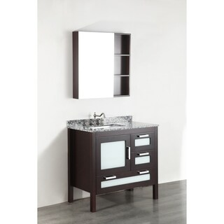 Bosconi SB-251-1 37-inch Contemporary Single Vanity with Mirror