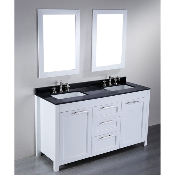 60'' Bosconi SB-267 Contemporary Double Vanity