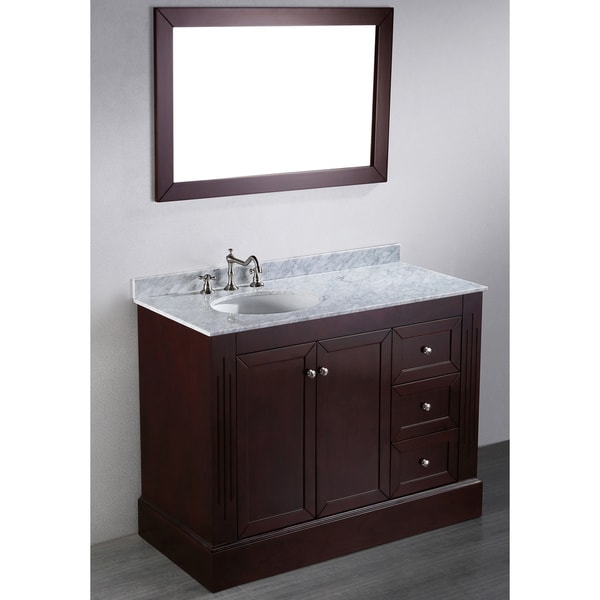 shop bosconi sb 255 45 inch contemporary single vanity with mirror free shipping today. Black Bedroom Furniture Sets. Home Design Ideas