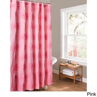 Lush Decor Samantha Embroidered Shower Curtain