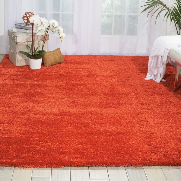 Nourison Style Flame Red Rug - 7'6 x 9'6