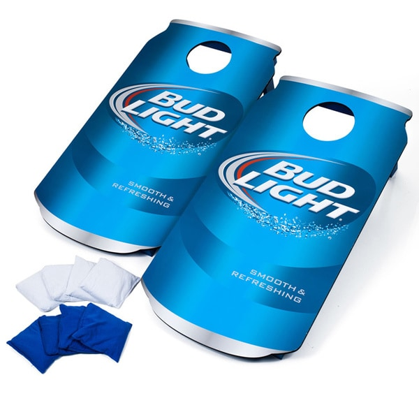 Trademark Licensed Bud Light Can Portable Cornhole Game
