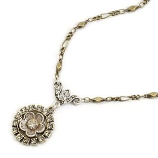 Sweet Romance Crystal Flower Bridesmaid Pendant Necklace