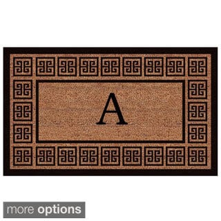 The Grecian' Extra-thick Monogrammed Doormat (1'6 x 2'6)
