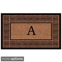 The Grecian' Extra-thick Monogrammed Doormat (1'6 x 2'6) - 1'6 x 2'6