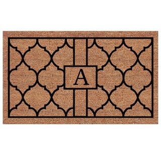 Pantera Extra-thick Monogrammed Doormat (1'6 x 2'6)