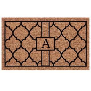 Pantera Extra-thick Monogrammed Doormat (1'6 x 2'6) - 1'6 X 2'6