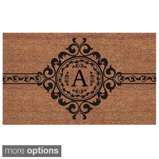 Handmade Garbo Extra-thick Monogrammed Doormat (2' x 3')