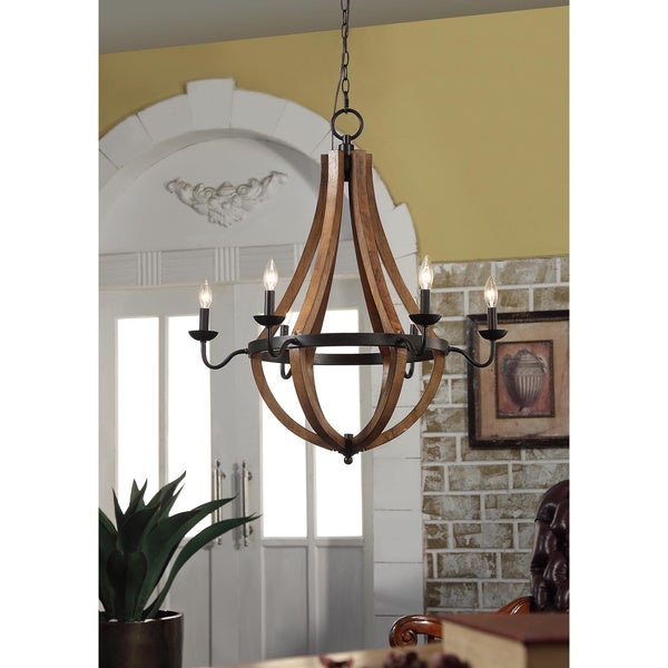 Overstock Lighting: Vineyard Oil-rubbed Bronze 6-light Chandelier