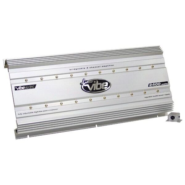 Lanzar VIBE261 Vibe 2400 Watt 2 Channel Mosfet Amplifier (Refurbished)