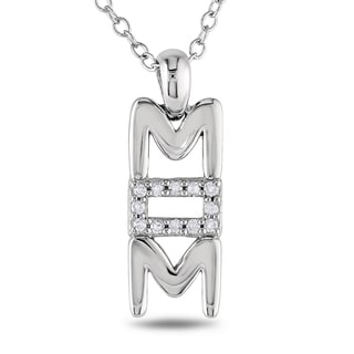 Miadora Sterling Silver Diamond Accent Necklace