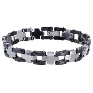 Vance Co. Men's Tungsten Two-tone Link Bracelet