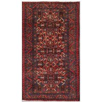 Handmade Herat Oriental Afghan Tribal Balouchi Wool Area Rug (Afghanistan) - 3'7 x 6'3