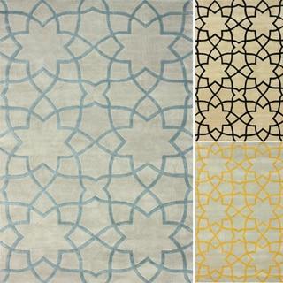 nuLOOM Handmade Lattice Moroccan Trellis Wool Rug (7'6 x 9'6)