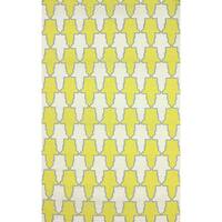 nuLOOM Flatweave Modern Trellis Yellow Wool Rug - 5' x 8'