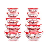 Chef Buddy Clear Glass 20-piece Bowl Set with Lids