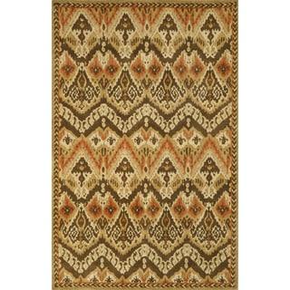 Tie Dye Camel Indoor Rug (3'5 x 5'5)