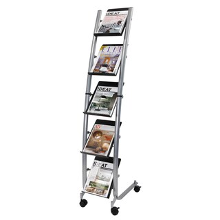 Alba 5-level Narrow Mobile Literature Display