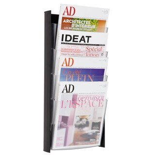 Alba 4-pocket Black A4 Wall Document Display