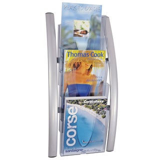 Alba 5-compartment Acrylic Wall Literature Display
