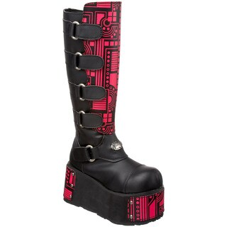 Demonia Men's 'Techno-850' Cyber Goth Knee-high Boots
