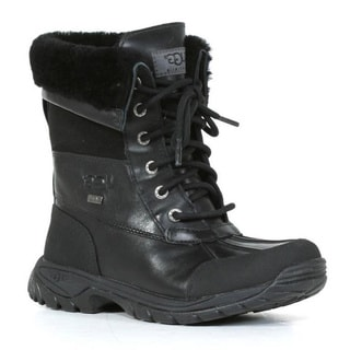 Ugg Men's 'Butte' Black Lace-up Cold Weather Ankle Boots
