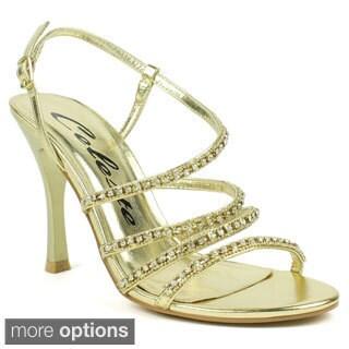 Celeste Women's 'Charlize-01' Rhinestone Metallic Party Heels