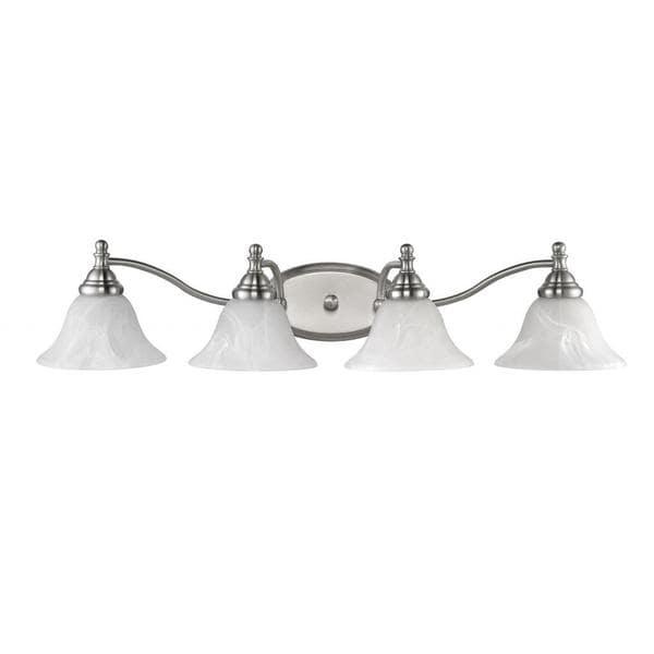 Chloe Transitional 4-light Brushed Nickel Bath/ Vanity Light