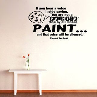'by all means Paint...' Vinyl Wall Decal