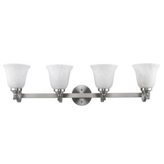 Chloe Transitional 4-light Brushed Nickel Bath/ Vanity Light