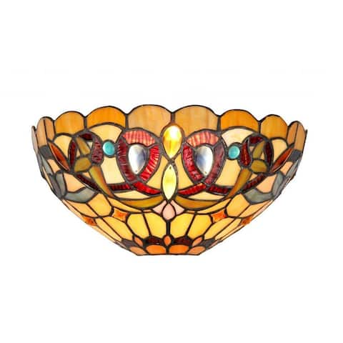 Tiffany Style Victorian Design 1-light Wall Sconce