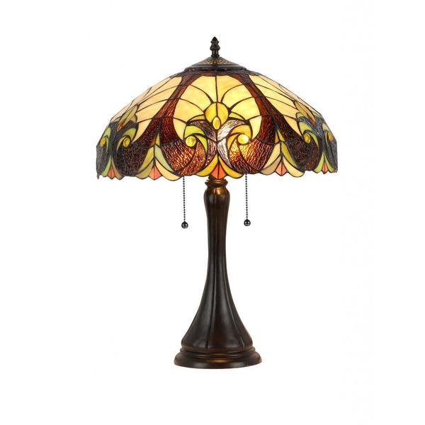 tiffany style victorian antique bronze 2 light table lamp free. Black Bedroom Furniture Sets. Home Design Ideas