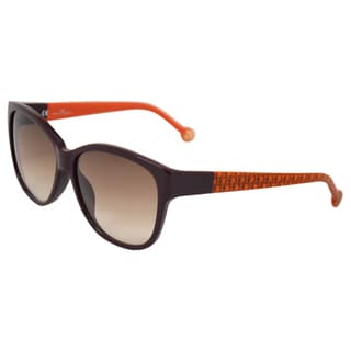 Carolina Herrera Women's 'SHE511 09FD' Plum Terracotta Sunglasses